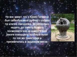 Не все знают, что у Юрия Гагарина был своеобразный дублер – собака по кличке