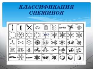 КЛАССИФИКАЦИЯ СНЕЖИНОК ЕЛЬ