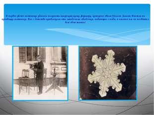 А первое фото снежинки удалось получить американскому фермеру, которого звал