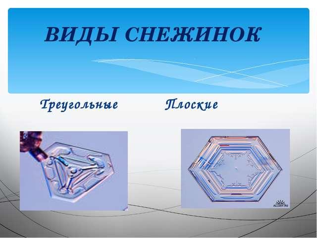 Треугольные Плоские ВИДЫ СНЕЖИНОК
