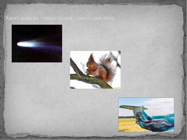 Хвост кометы – хвост белки – хвост самолёта.