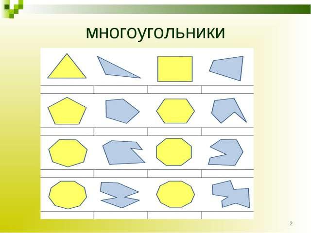 многоугольники *