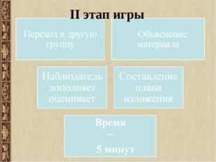 ІІ этап игры