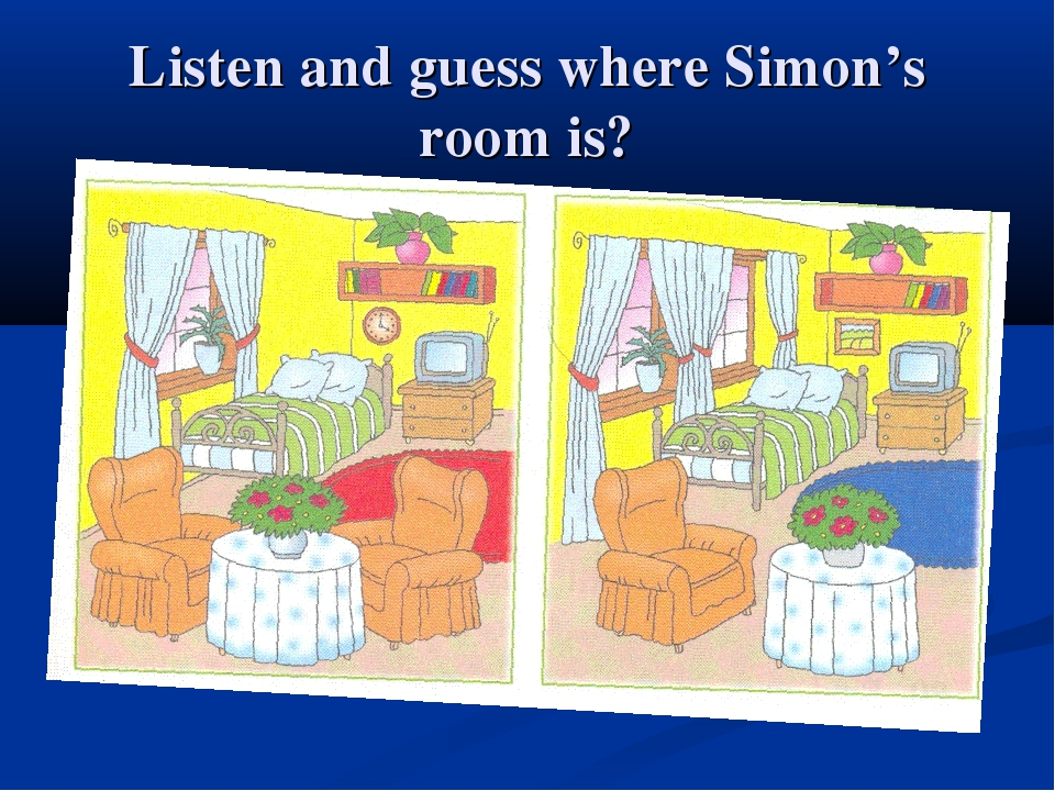 Listen and guess where Simon's room is?