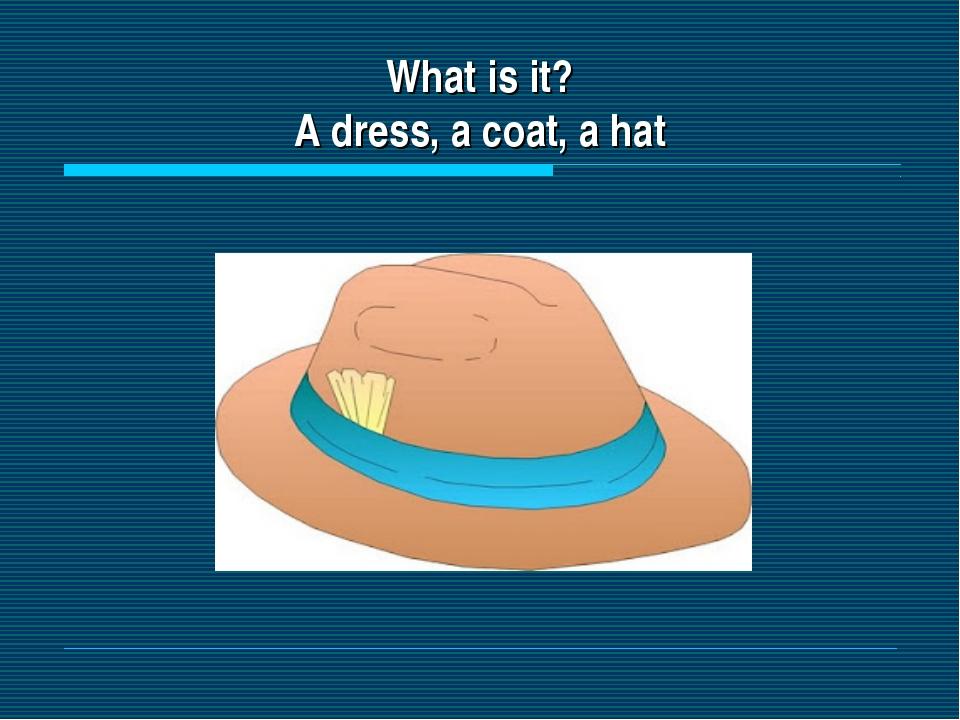 What is it? A dress, a coat, a hat