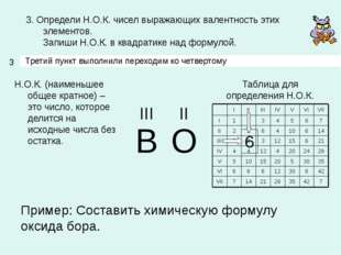 3 3. Определи Н.О.К. чисел выражающих валентность этих элементов. Запиши Н.О.