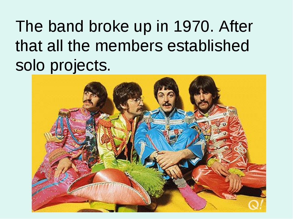The band broke up in 1970. After that all the members established solo projec...