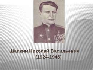 Шапкин Николай Васильевич (1924-1945)