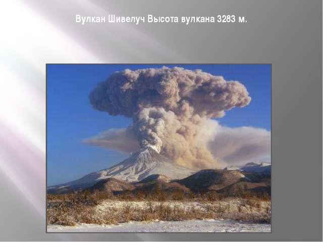 Вулкан Шивелуч Высота вулкана 3283м.