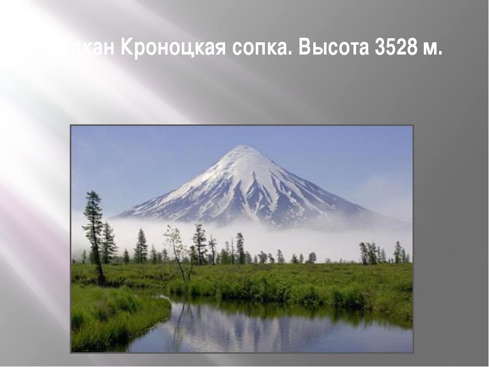 Вулкан Кроноцкая сопка. Высота 3528 м.