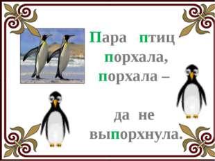Попугайчик, попугай, Папус мамой не пугай. Не ищи жучка в крупе, А найди на
