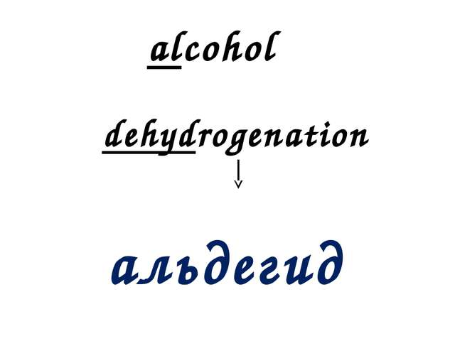 alcohol dehydrogenation альдегид