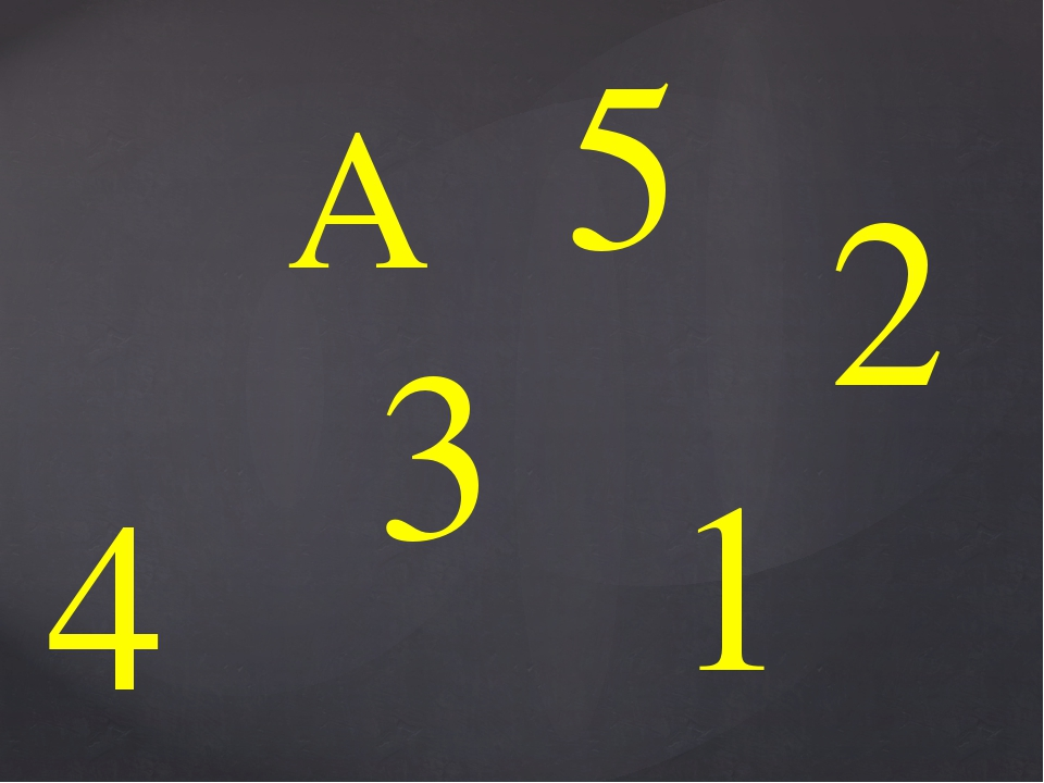 А 1 2 4 3 5