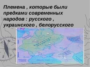 Восточные славяне . Кто они? Племена , которые были предками современных наро