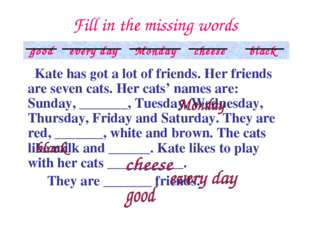 Fill in the missing words 	 Kate has got a lot of friends. Her friends are se