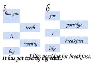 has got teeth It twenty big for porridge I breakfast like
