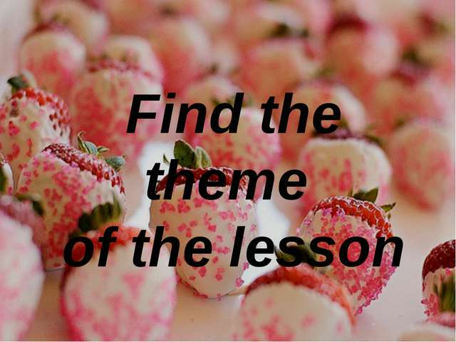 Find the theme of the lesson