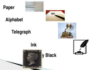 Paper Alphabet Telegraph Ink The Penny Black ABC