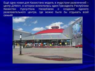 Ещё одна новая для Казахстана модель в индустрии развлечений – центр ДУМАН, в