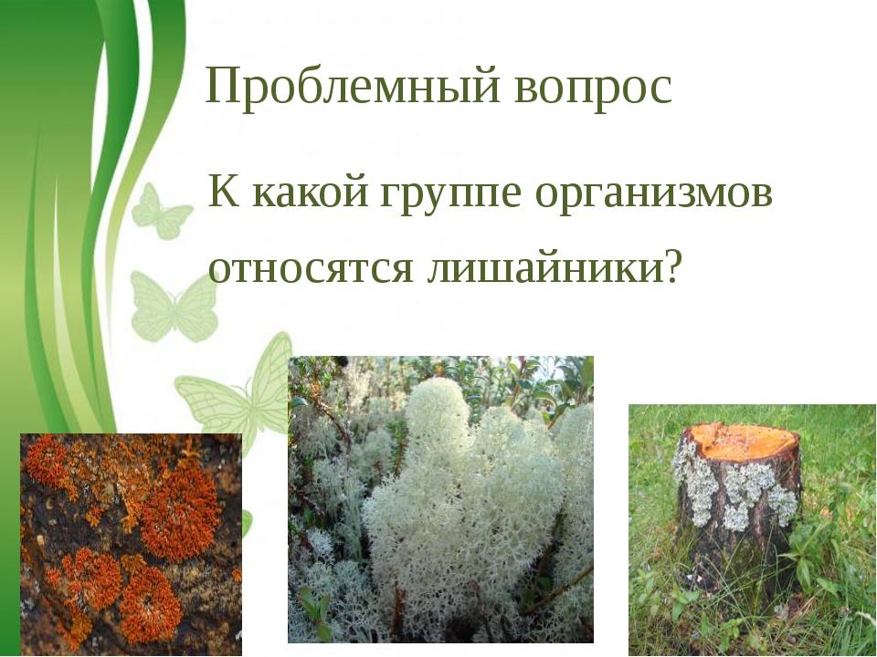 Free Powerpoint Templates Проблемный вопрос К какой группе организмов относят...