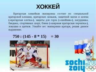 Вратарская хоккейная экипировка состоит из: специальной вратарской клюшки, в