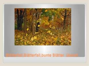 Blätterfall,Blätterfall,bunte Blätter überall.