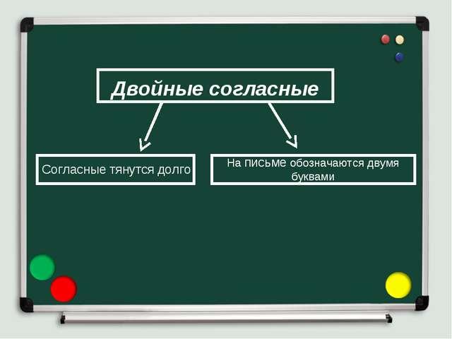Двойные согласные Согласные тянутся долго На письме обозначаются двумя буквами