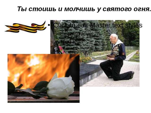 Ты стоишь и молчишь у святого огня.