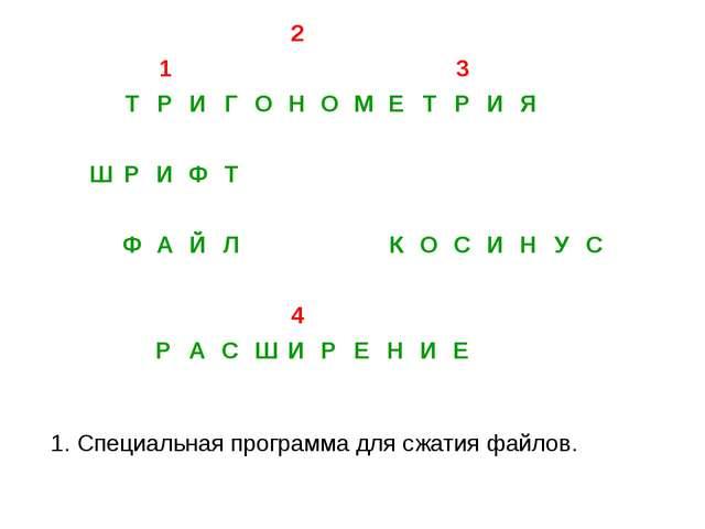 3. Косинус 2. Тангенс 1. Синус
