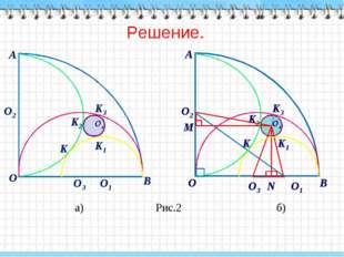 Решение. а) Рис.2 б) K1 O4 K3 K2 K2 K1 K3