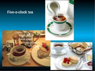 Five-o-clock tea