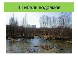 3.Гибель водоемов