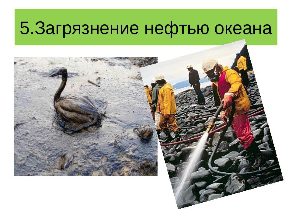 5.Загрязнение нефтью океана
