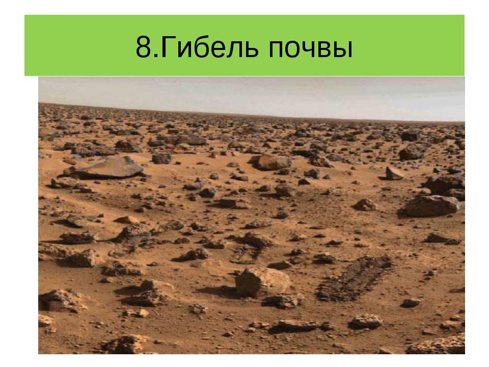 8.Гибель почвы