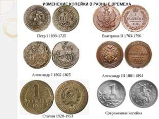 Петр I 1699-1725 Екатерина II 1763-1796 Александр I 1802-1825 Александр III 1