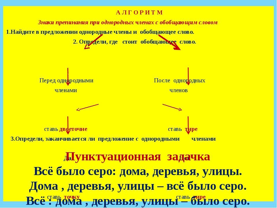 Знаки препинания при однородных членах дидактический материал