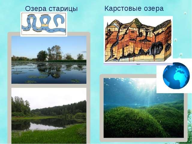 Озера старицы Карстовые озера