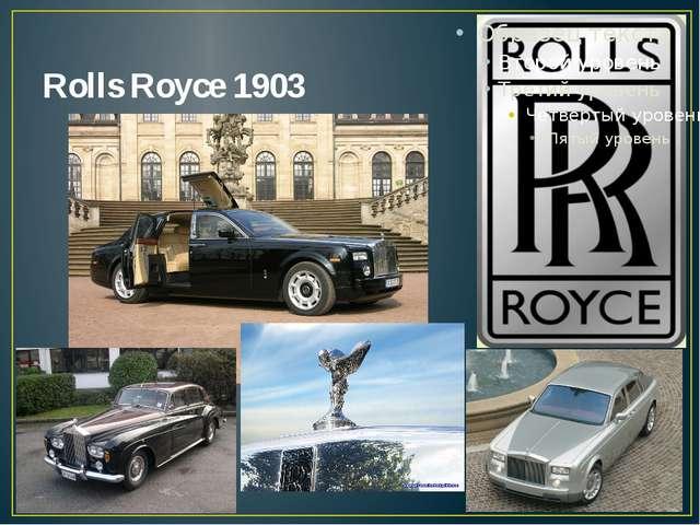 Rolls Royce 1903