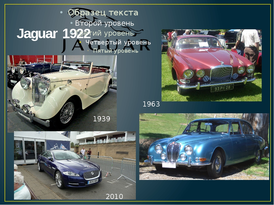 Jaguar 1922 1939 1963 2010