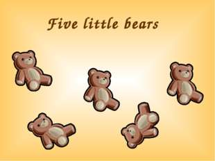 Five little bears
