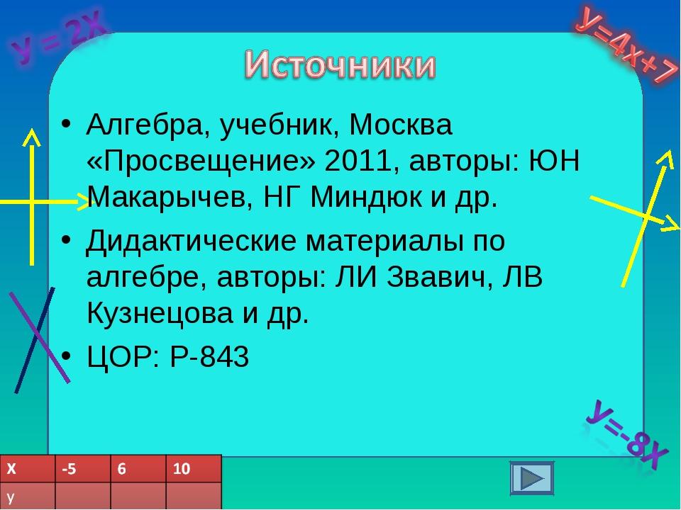 Алгебра, учебник, Москва «Просвещение» 2011, авторы: ЮН Макарычев, НГ Миндюк...