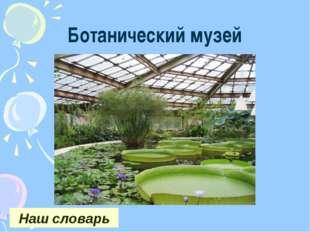 Ботанический музей Наш словарь