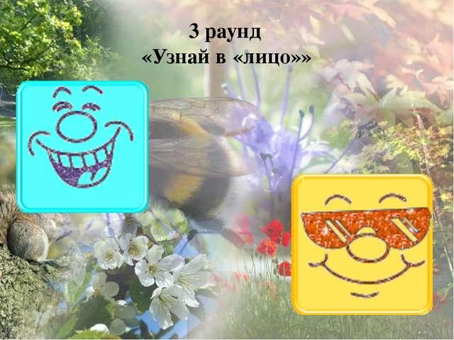 3 раунд «Узнай в «лицо»»