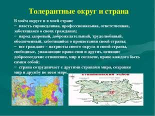 Толерантные округ и страна В моём округе и в моей стране власть справедливая