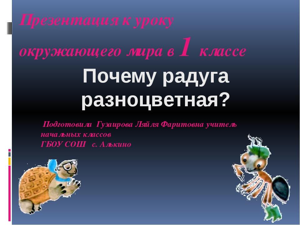 Презентация к уроку окружающего мира в 1 классе Подготовила Гузаирова Ляйля Ф...