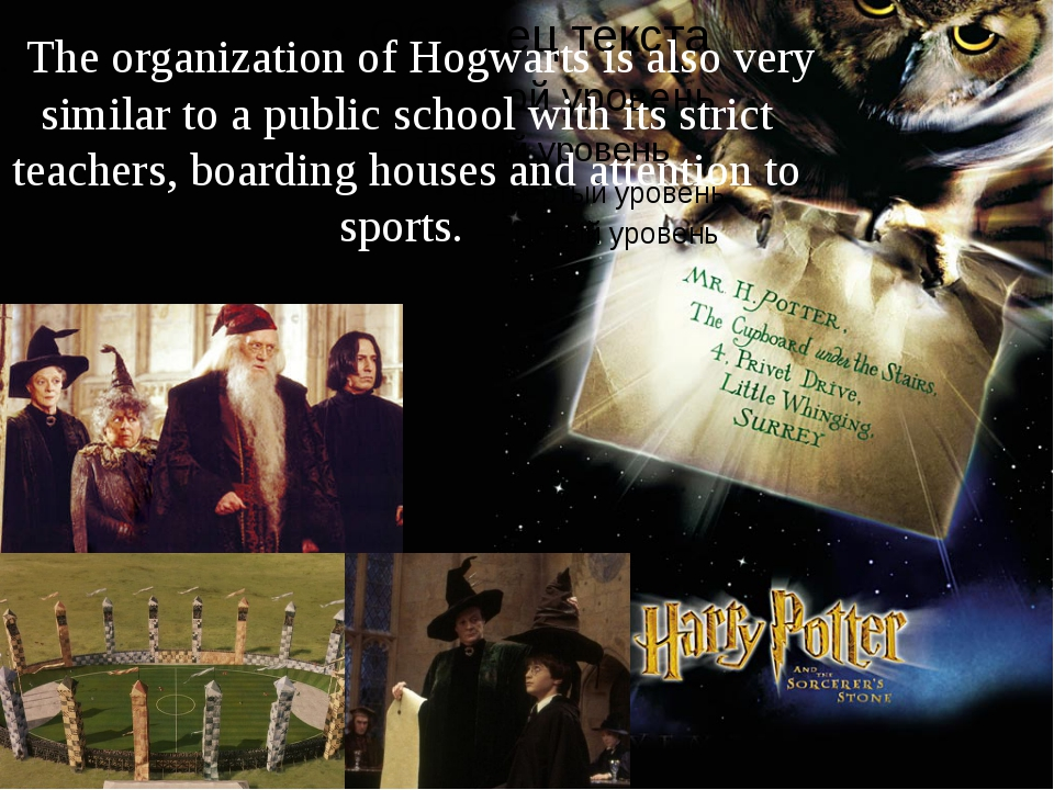 . The organization of Hogwarts is also very similar to a public school with i...