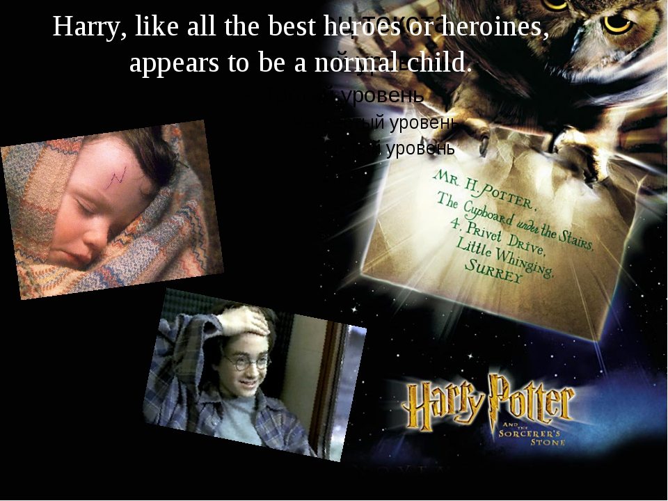 Harry, like all the best heroes or heroines, appears to be a normal child.