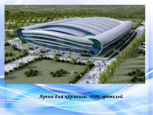 Арена для кёрлинга, 3000 зрителей.
