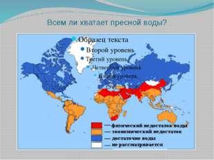 Всем ли хватает пресной воды?