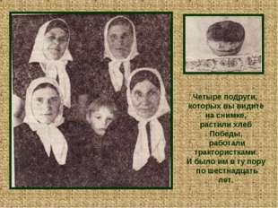 Четыре подруги, которых вы видите на снимке, растили хлеб Победы, работали т